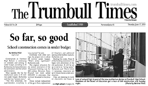 Read Trumbull Times Article